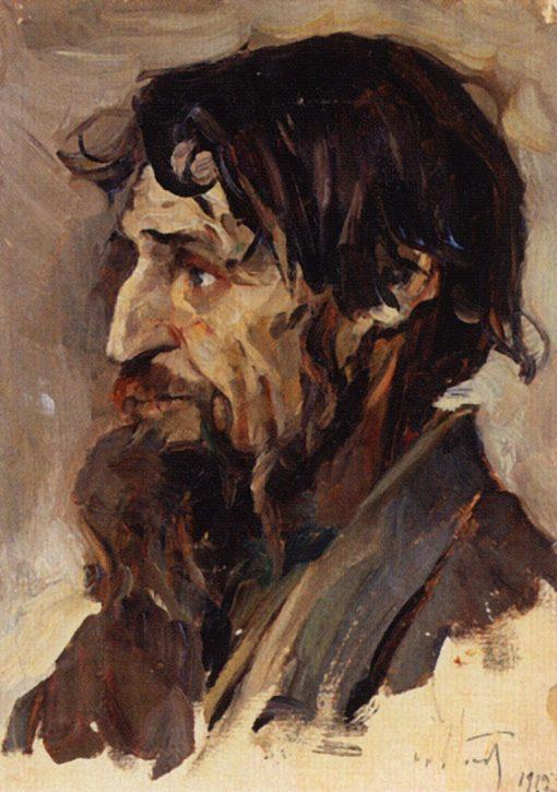 Bearded Man (study)   Mikhail Vasilevich Nesterov   Oil Painting