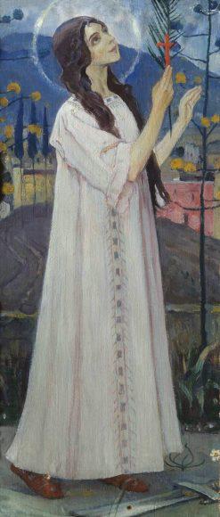 Saint Barbara | Mikhail Vasilevich Nesterov | Oil Painting