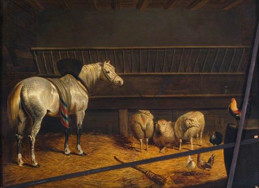 Grey Horse in a Stable | John Frederick Herring