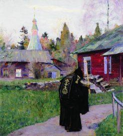 Evening Bells | Mikhail Vasilevich Nesterov | Oil Painting