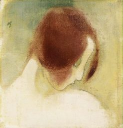 The red-haired girl | Helene Schjerfbeck | Oil Painting