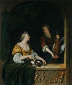 A Poultry Seller | Willem van Mieris | Oil Painting