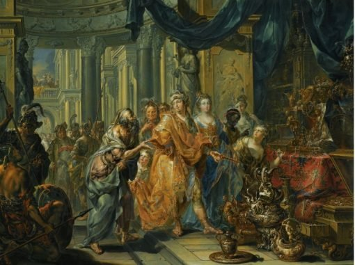 Croesus and Solon | Johann Georg Platzer | Oil Painting
