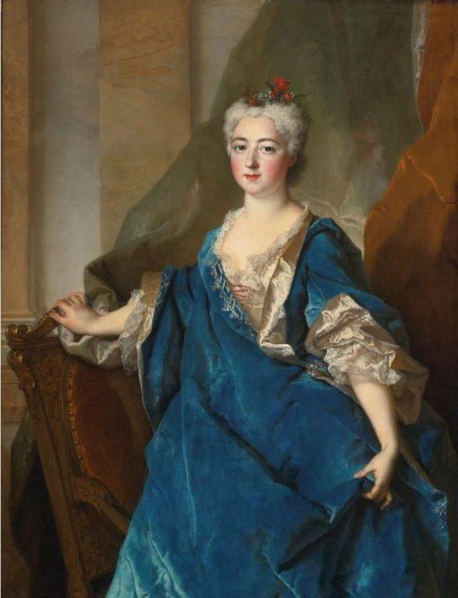 Portrait of Baronne de Besenval   Nicolas de Largillière   Oil Painting