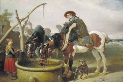 Horses at a Well and Henry Bright | John Frederick Herring