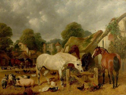Horses in a Paddock | John Frederick Herring