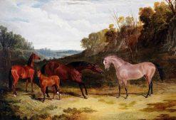 Horses in a Landscape | John Frederick Herring
