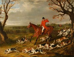 Hunting Scene with Foxhounds | John Frederick Herring