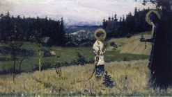 The Vision to the Youth Bartholomew (study) | Mikhail Vasilevich Nesterov | Oil Painting