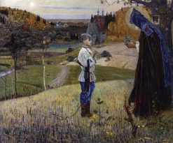The Vision to the Youth Bartholomew | Mikhail Vasilevich Nesterov | Oil Painting