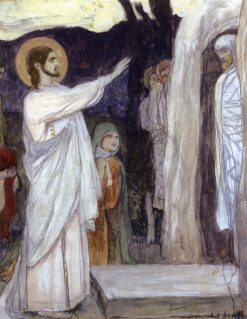 The Raising of Lasarus | Mikhail Vasilevich Nesterov | Oil Painting