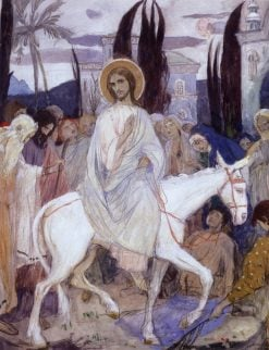 Christs Entry into Jerusalem | Mikhail Vasilevich Nesterov | Oil Painting