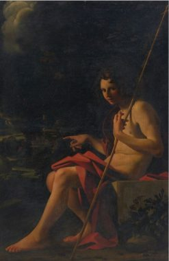 Saint John the Baptist in a Ladnscape | Bartolomeo Schedoni | Oil Painting