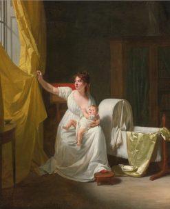 Portrait of Madame de lHorme and Her Son | Henri-Pierre Danloux | Oil Painting