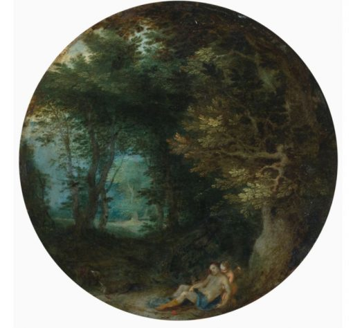 A Wooded Landscape with the Death of Adonis | Jan Brueghel the Elder | Oil Painting