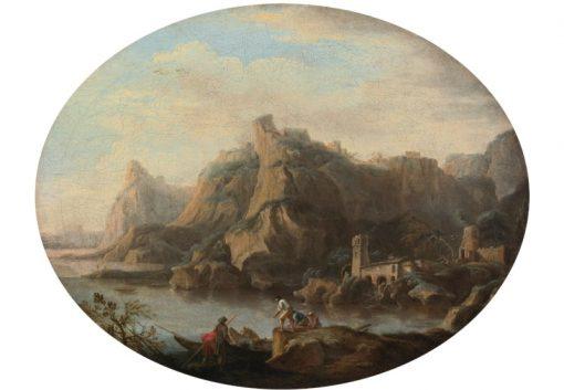A Coastal Scene | Salvator Rosa | Oil Painting