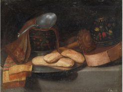 A Chocolate Service with a Woodem Box | Juan van der Hamen | Oil Painting