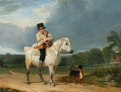 Man on a Grey Pony | John Frederick Herring
