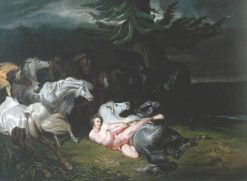 Mazeppa Surrounded by Horses (after Horace Vernet) | John Frederick Herring