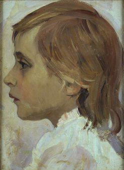 Head of a Girl   Mikhail Vasilevich Nesterov   Oil Painting