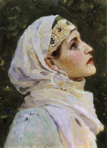 Head of a Princess | Mikhail Vasilevich Nesterov | Oil Painting