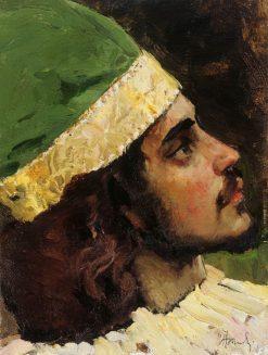 Head of a Prince   Mikhail Vasilevich Nesterov   Oil Painting