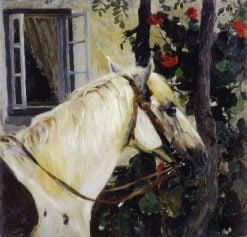 Head of a Horse   Mikhail Vasilevich Nesterov   Oil Painting