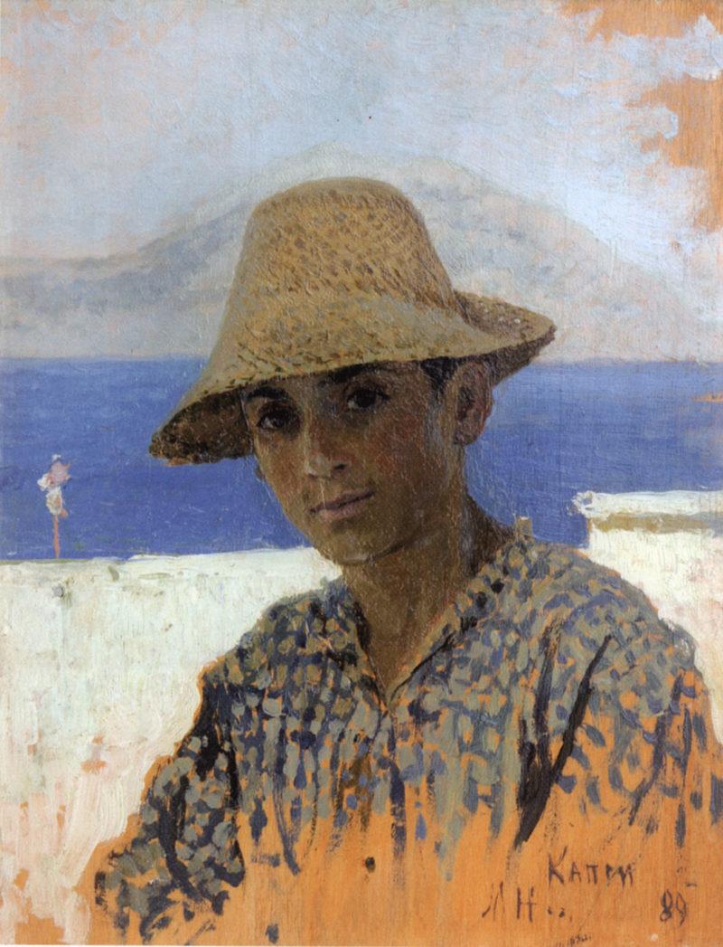 Boy from Naples | Mikhail Vasilevich Nesterov | Oil Painting