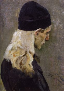 Head of a Young Monk | Mikhail Vasilevich Nesterov | Oil Painting