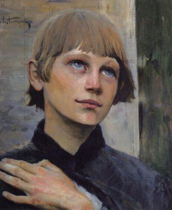 Boy Praying | Mikhail Vasilevich Nesterov | Oil Painting