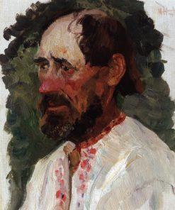 Head of a Man | Mikhail Vasilevich Nesterov | Oil Painting