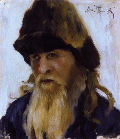Head of an Old Man   Mikhail Vasilevich Nesterov   Oil Painting