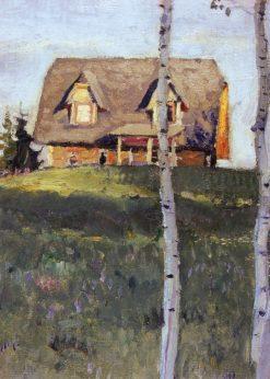 Vasnetsovs Dacha in Abramtsevo   Mikhail Vasilevich Nesterov   Oil Painting