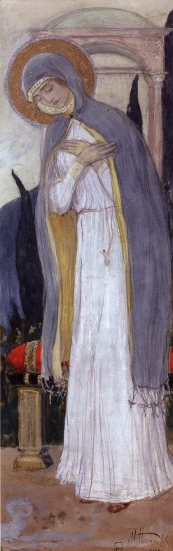 Virgin Mary | Mikhail Vasilevich Nesterov | Oil Painting