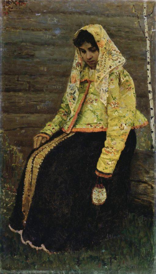 A Girl | Mikhail Vasilevich Nesterov | Oil Painting