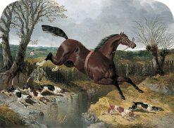 Runaway Chestnut Horse with Beagles | John Frederick Herring