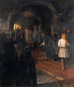 The Visitors | Mikhail Vasilevich Nesterov | Oil Painting