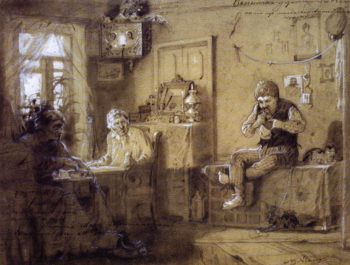 The House Arrest (study) | Mikhail Vasilevich Nesterov | Oil Painting