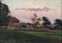 House in Ufa   Mikhail Vasilevich Nesterov   Oil Painting