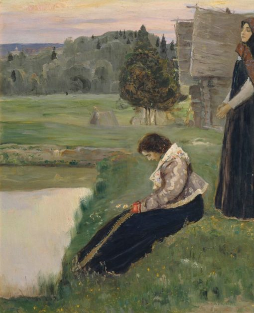 Thoughts | Mikhail Vasilevich Nesterov | Oil Painting