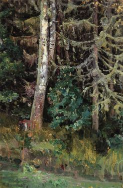 Fir Trees | Mikhail Vasilevich Nesterov | Oil Painting