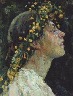 Head of a Woman | Mikhail Vasilevich Nesterov | Oil Painting