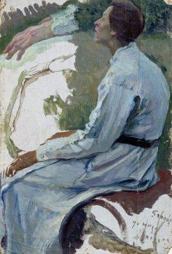 Female Figure | Mikhail Vasilevich Nesterov | Oil Painting