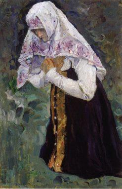 Kneeling Woman | Mikhail Vasilevich Nesterov | Oil Painting