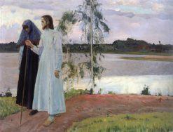Wayfarers. Beyond the Volga | Mikhail Vasilevich Nesterov | Oil Painting