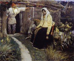For the love potion | Mikhail Vasilevich Nesterov | Oil Painting