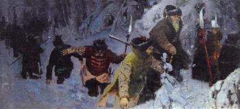 Ivan Susanin | Mikhail Vasilevich Nesterov | Oil Painting