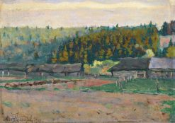 Houses by the Forest | Mikhail Vasilevich Nesterov | Oil Painting