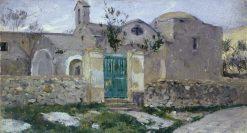 Capri. Monastery | Mikhail Vasilevich Nesterov | Oil Painting