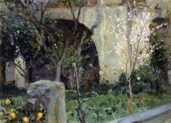 Capri. Almond Tree in Bloom | Mikhail Vasilevich Nesterov | Oil Painting